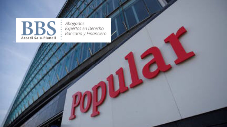 Banco Popular. BBS Abogados.